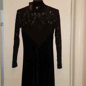 Black Velvet Folter Secret Society Dress Small NWT